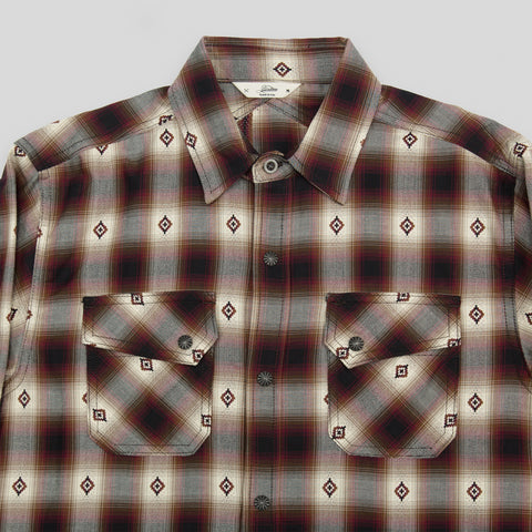 Crosscut Flannel - Red Jacquard Plaid
