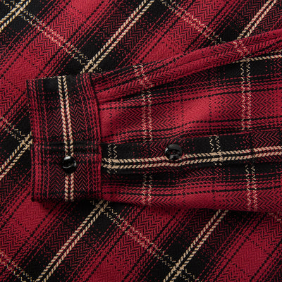 Crosscut Flannel Shirt - Red Plaid