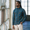 Crosscut Flannel Shirt - Slate Blue Plaid