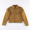 CD-3 Leather Jacket - Gold Fringe Suede