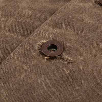 Calico Vest - Taupe Waxed Canvas