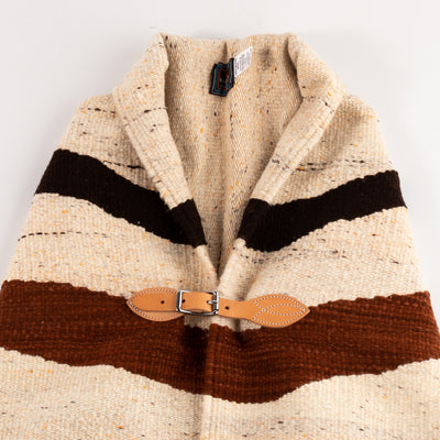 Chamula Merino Wool Blanket Poncho - Autumn Wave/Natural Heather Multi - Standard & Strange