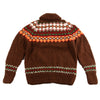 Chamula Merino Wool Zip Cardigan - Fair Isle #3 - Brown Heather - Standard & Strange