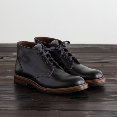 [Pre-order for January 2021 delivery] Steadfast Chukka Boot - Black French Calf