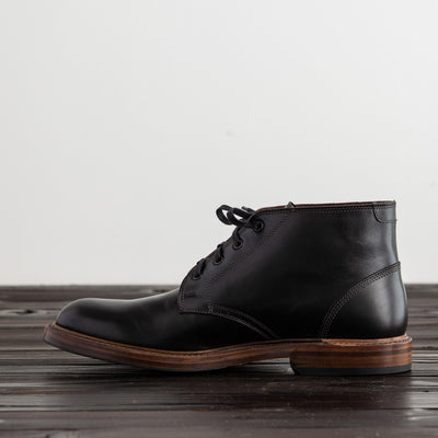 [Pre-order for February 2019 delivery] Steadfast Chukka Boot - Black French Calf