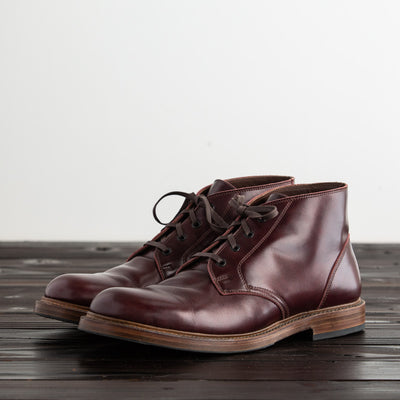 [Pre-order for February 2019 delivery] Steadfast Chukka Boot - Burgundy French Calf