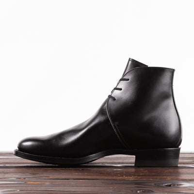 Clinch Boots George Boots - Black Overdyed Kip - CN-Wide Last - Standard & Strange