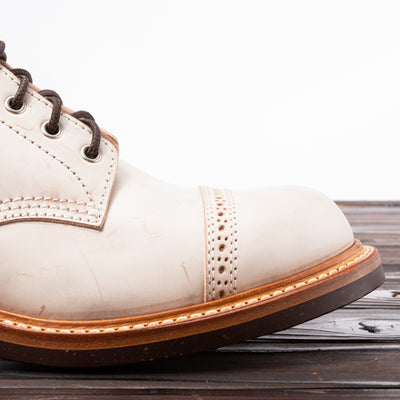 [Pre-order for June 2020 delivery] Combat Boot - Natural White Shadow Shell Cordovan