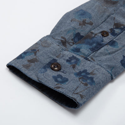 Combat Shirt Faded Flowers - Indigo