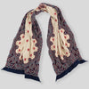 Compressed Wool Scarf Cosmic Star - Navy