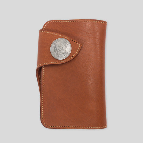 Condor Mid Wallet - Waxed London Tan