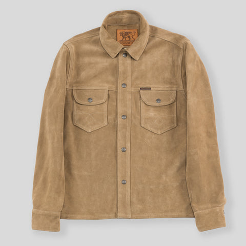 Copeland Slim Fit Jacket - Dust Beige Suede