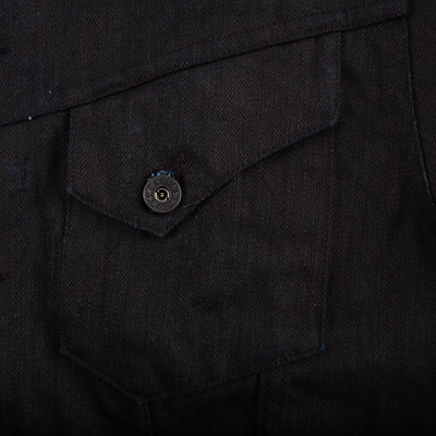 Cowboy Jacket - Black Coated Denim