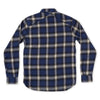 Crosscut Flannel Shirt - Navy Brushed Check