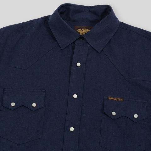 Dollard Shirt - Navy Herringbone
