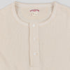 Double Diamond Heavy Henley Shirt - Ecru