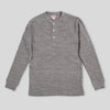 Double Diamond Wale Knit Henley - Gray