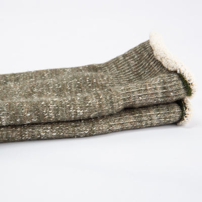 Double Face Socks - Army Green