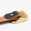 Hand Dyed Double Prong Belt - Black/Natural