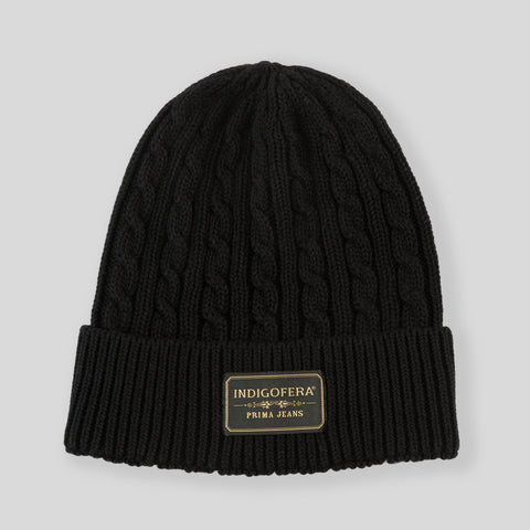 Drake Cotton Knit Watchcap - Black