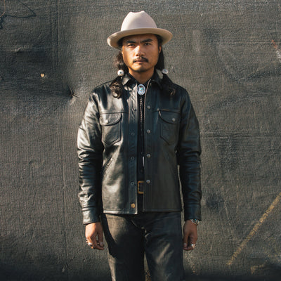 Eagle Rising Jacket - Black Horsehide