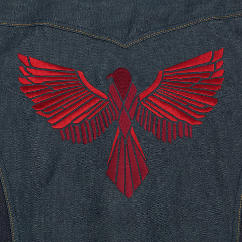 Eagle Rising Jacket - Two Tone Denim