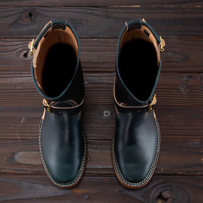 Wesco Limited Engineer Boot - Navy Waxed Flesh - Standard & Strange