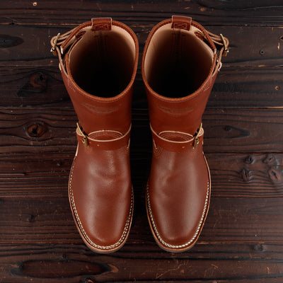 Wesco [Pre-order]  Wesco Limited Engineer Boot - Redwood Waxed Flesh - Standard & Strange