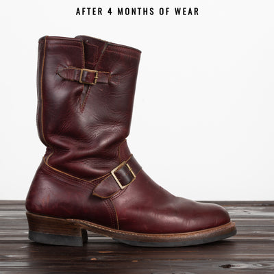 [Pre-order for May 2020 delivery] Engineer Boots - Burgundy Horween CXL