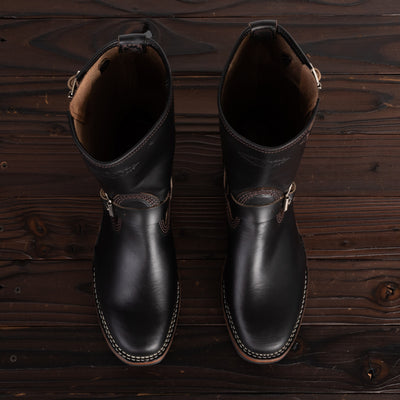 Wesco Mister Lou Engineer Boot - Black Horsehide - Standard & Strange