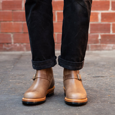 [Pre-order for May 2019 delivery] Engineer Boots - Natural Horween CXL