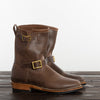 Flat Toe Engineer Boot - Natural Waxed Flesh - 2060