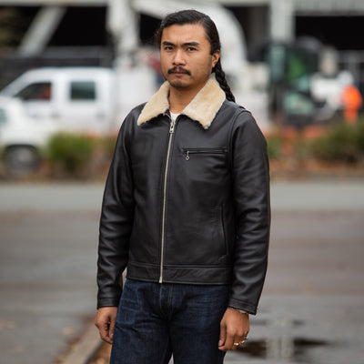 FJ-1 Leather Jacket - Black