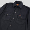 Fargo Shirt - Black/Gray Hickory Stripe