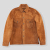 Fargo Shirt - Cognac Rough Out Leather