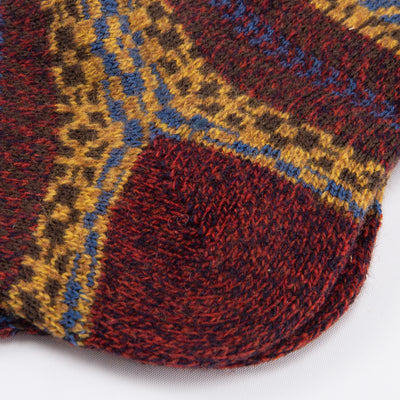 Farne Wool Sock - Chestnut Marl