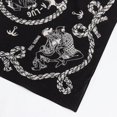 Fastcolor Selvedge Bandanna - Sneak Anchor - Black