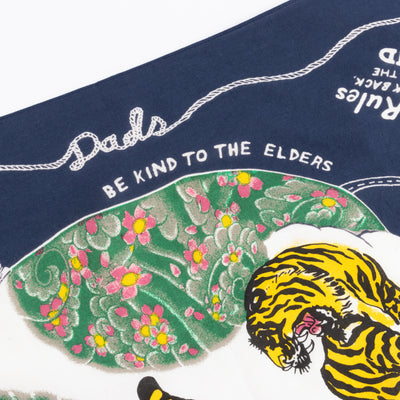 Fastcolor Selvedge Bandanna - Colorful Dad - Navy