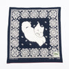 Fastcolor Selvedge Bandana (Lightning Dance Cat) - Navy