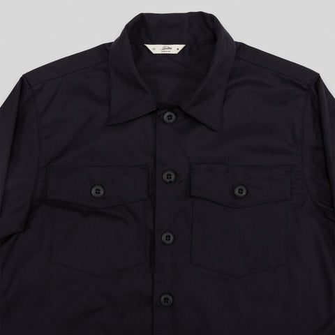 Fatigue Overshirt - Navy Herringbone