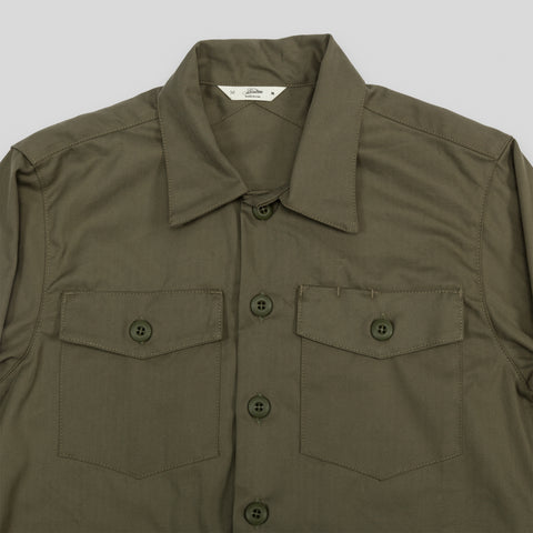 Fatigue Overshirt - Olive Herringbone