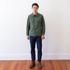 Jacket, Man's, Cotton, Sateen - Olive