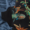 Flight Jacket - Black Cannabis Print