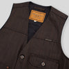 Floyd Vest - Black/Brown Hickory Stripe