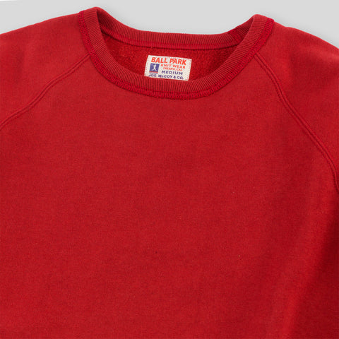 Joe McCoy Ball Park Freedom Sleeve Sweatshirt - Red