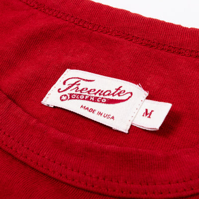 Freenote 9oz Pocket Tee - Red - Standard & Strange
