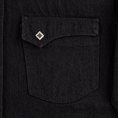 Calico Western Shirt - Black Selvedge