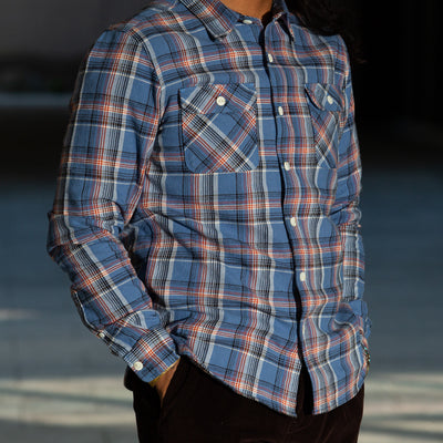 Freenote Jepson Shirt - Blue Plaid - Standard & Strange