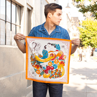 Fruit Shunga Bandana - Orange