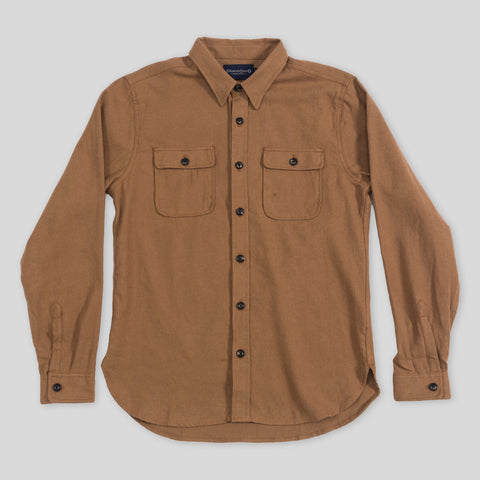 Gilroy Shirt - Camel Cotton/Wool